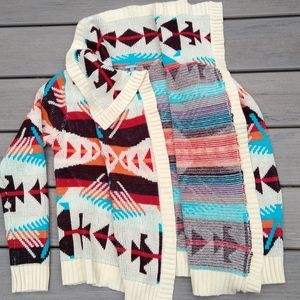 Charlotte Russe Aztec Wrap Sweater Small